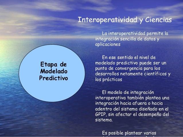 Interoperatividad y Ciencias Etapa de Modelado Predictivo La interoperatividad permite la integración sencilla de datos y ...