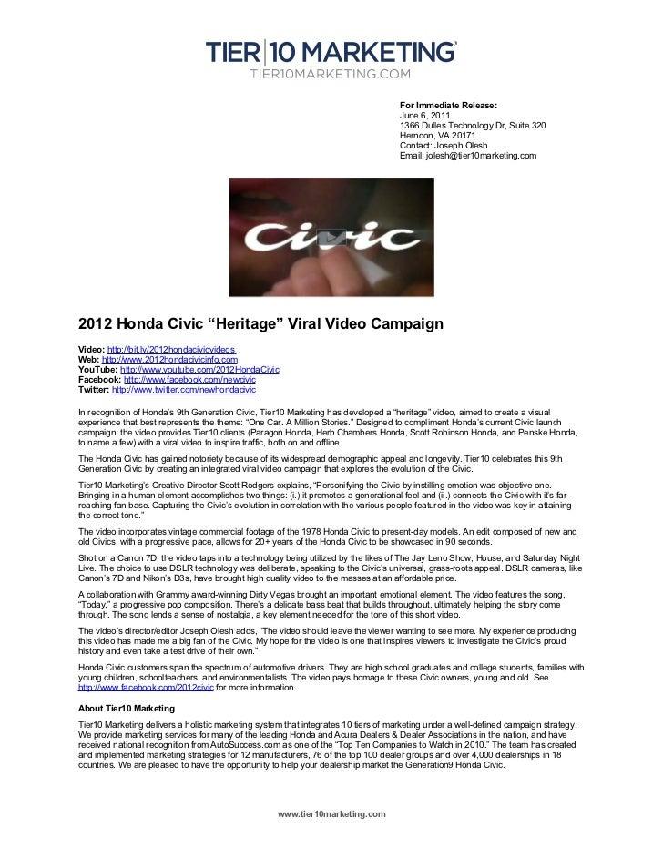 For Immediate Release:                                                                                      June 6, 2011  ...