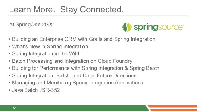 Web writing services with spring integration