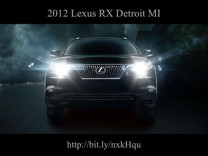 2012 Lexus RX Detroit MI http://bit.ly/nxkHqu