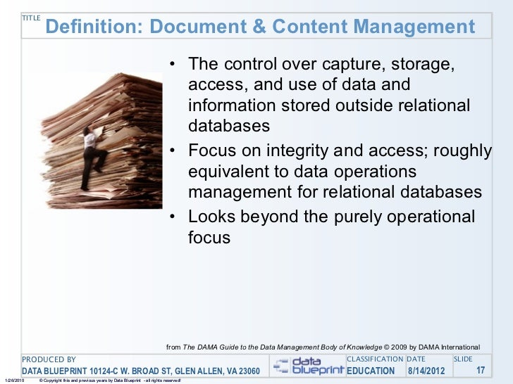 Data ed online your documents and other content managing unstructur 42 title definition document content management the malvernweather Gallery