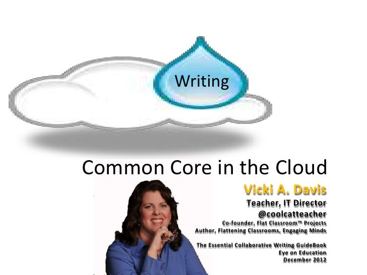 WritingCommon Core in the Cloud                            Vicki A. Davis                             Teacher, IT Director...