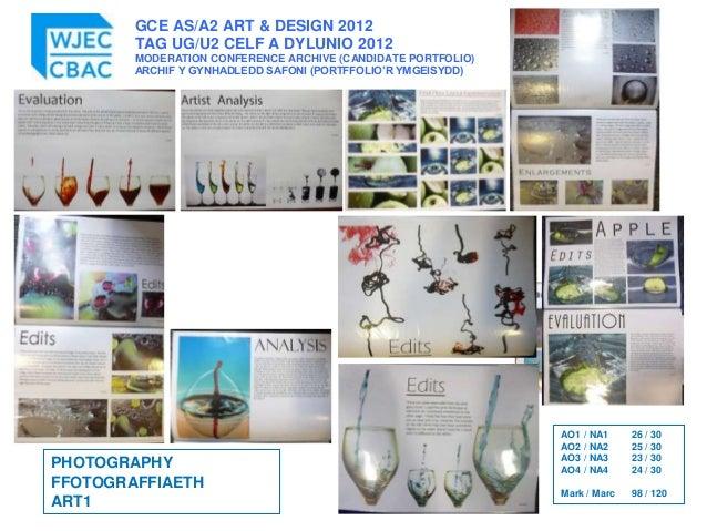 GCE AS/A2 ART & DESIGN 2012 TAG UG/U2 CELF A DYLUNIO 2012 MODERATION CONFERENCE ARCHIVE (CANDIDATE PORTFOLIO) ARCHIF Y GYN...