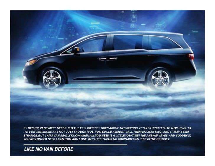 2012 honda odyssey brochure in tampa florida dealer for Honda dealership tampa florida
