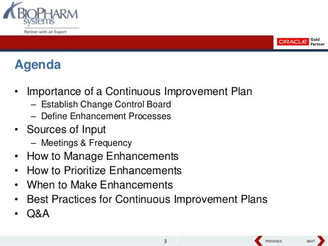 Developing A Continuous Improvement Plan For Your Clinical
