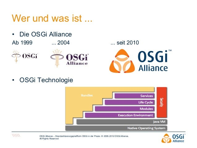 2012  OSGi Alliance Ahaus, 11/9/12 - Susan Schwarze  Slide 2