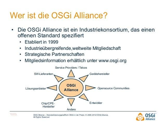 2012  OSGi Alliance Ahaus, 11/9/12 - Susan Schwarze  Slide 3
