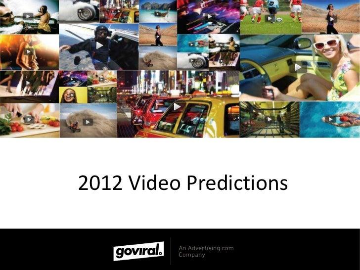 2012 Video Predictions