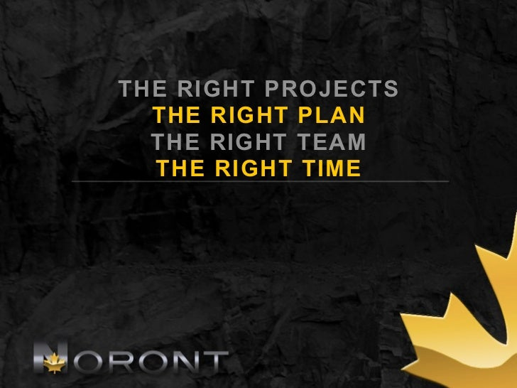 THE RIGHT PROJECTS  THE RIGHT PLAN  THE RIGHT TEAM  THE RIGHT TIME