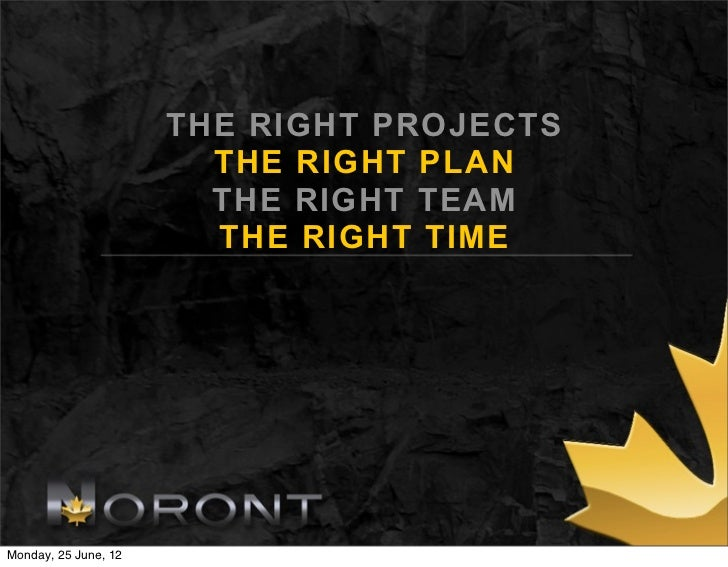 THE RIGHT PROJECTS                        THE RIGHT PLAN                        THE RIGHT TEAM                        THE ...