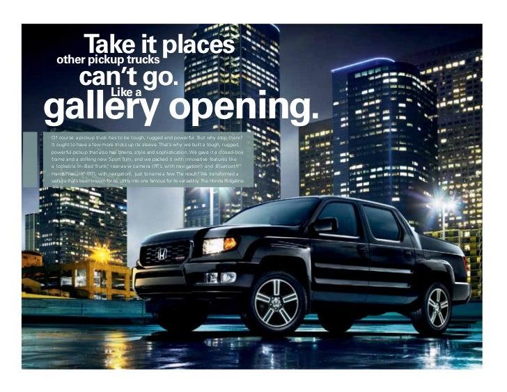 2012 honda ridgeline brochure in tampa florida dealer for Honda dealership tampa