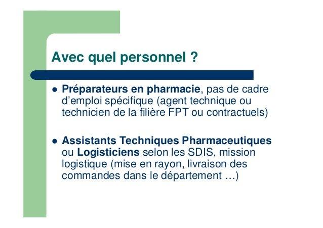 R le et missions du pharmacien sapeur pompier - Grille indiciaire technicien hospitalier ...