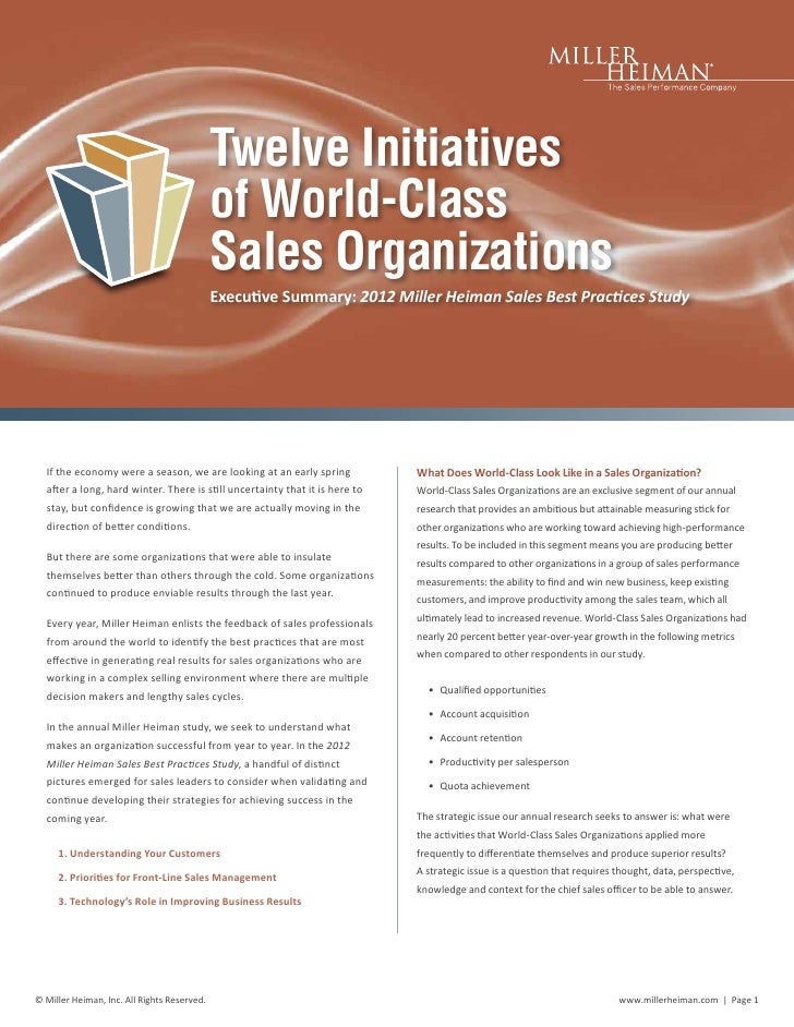 Twelve Initiatives                                             of World-Class                                             ...