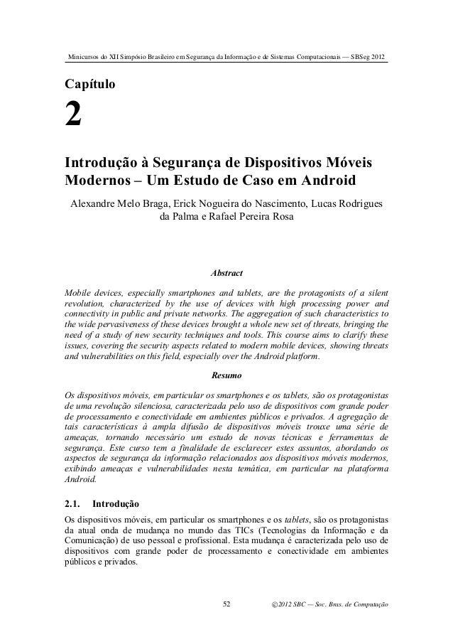 Minicursos do XII Simpósio Brasileiro em Segurança da Informação e de Sistemas Computacionais — SBSeg 2012  Capítulo  2 In...