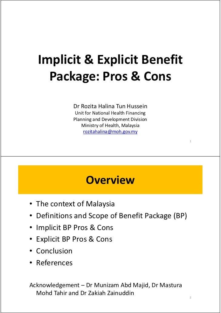 Implicit&ExplicitBenefit    Implicit & Explicit Benefit      Package:Pros&Cons      Package: Pros & Cons           ...