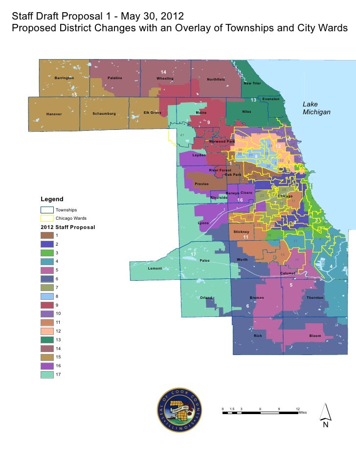 Cook County Redistricting Mittee Map Of Proposed District Changes: Cook County Maps At Slyspyder.com