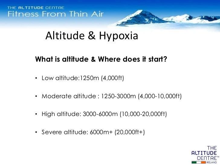 Altitude Training In Ireland - What is altitude