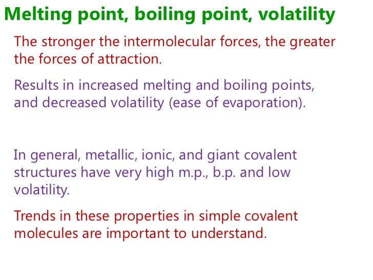 melting point and intermolecular forces relationship poems