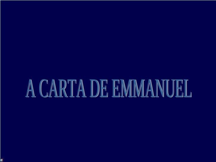 A CARTA DE EMMANUEL