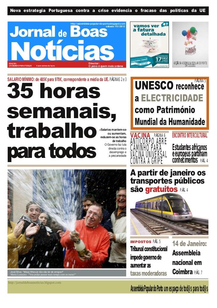 Nova estrategia Portuguesa contra a crise evidencia o fracaso das políticas da UE Jornal de Boas                          ...