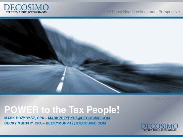 A Global Reach with a Local Perspective                                                                    www.decosimo.co...