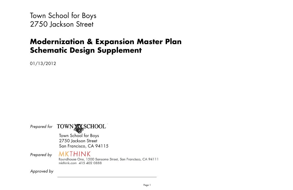 Town School for Boys2750 Jackson StreetModernization & Expansion Master PlanSchematic D iS h    i Design S                ...