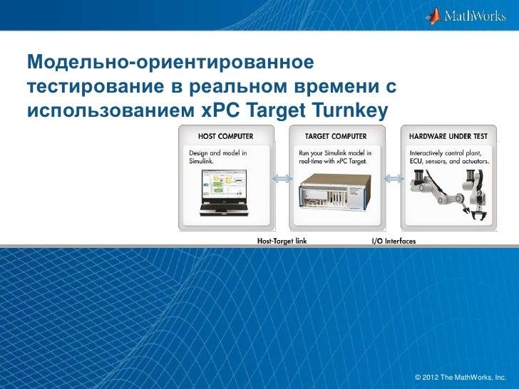 Модельно-ориентированноетестирование в реальном времени сиспользованием xPC Target Turnkey                                ...