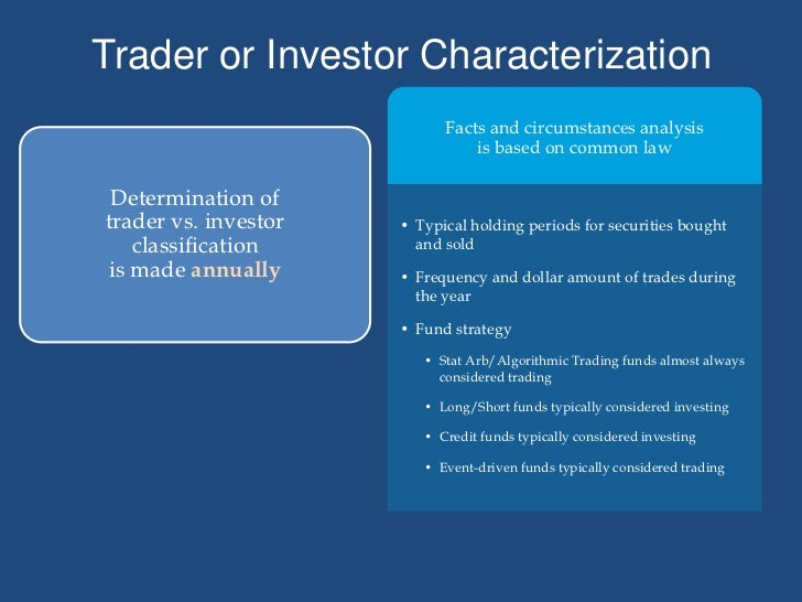 Basic Tax Considerations Affecting Hedge Funds