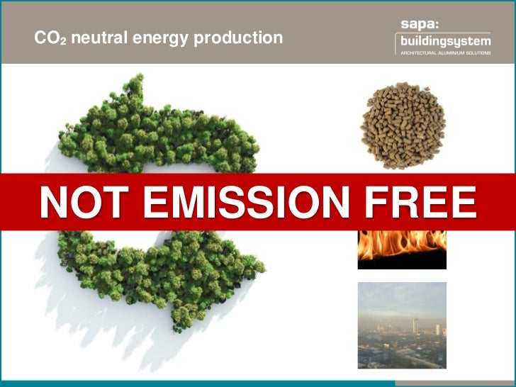 CO² neutral energy productionNOT EMISSION FREE