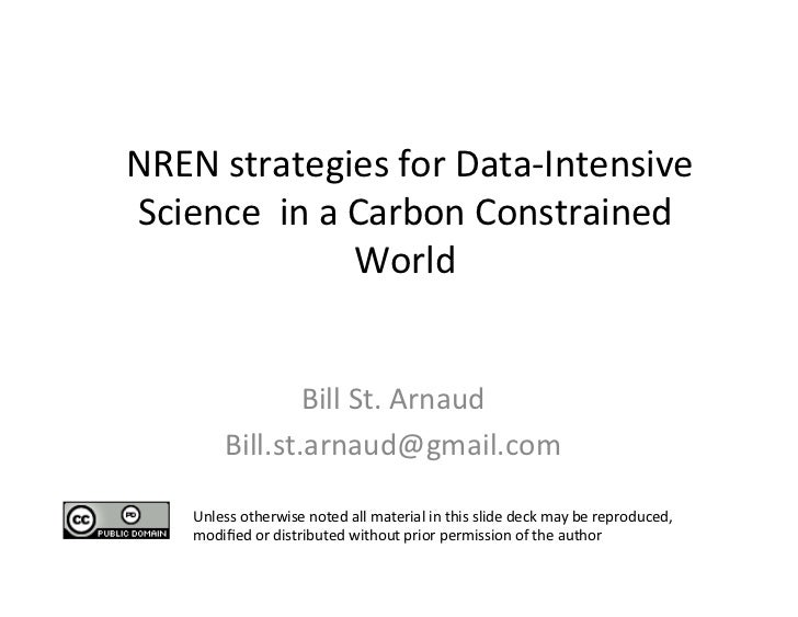 NREN strategies for Data-‐Intensive     Science  in a Carbo...