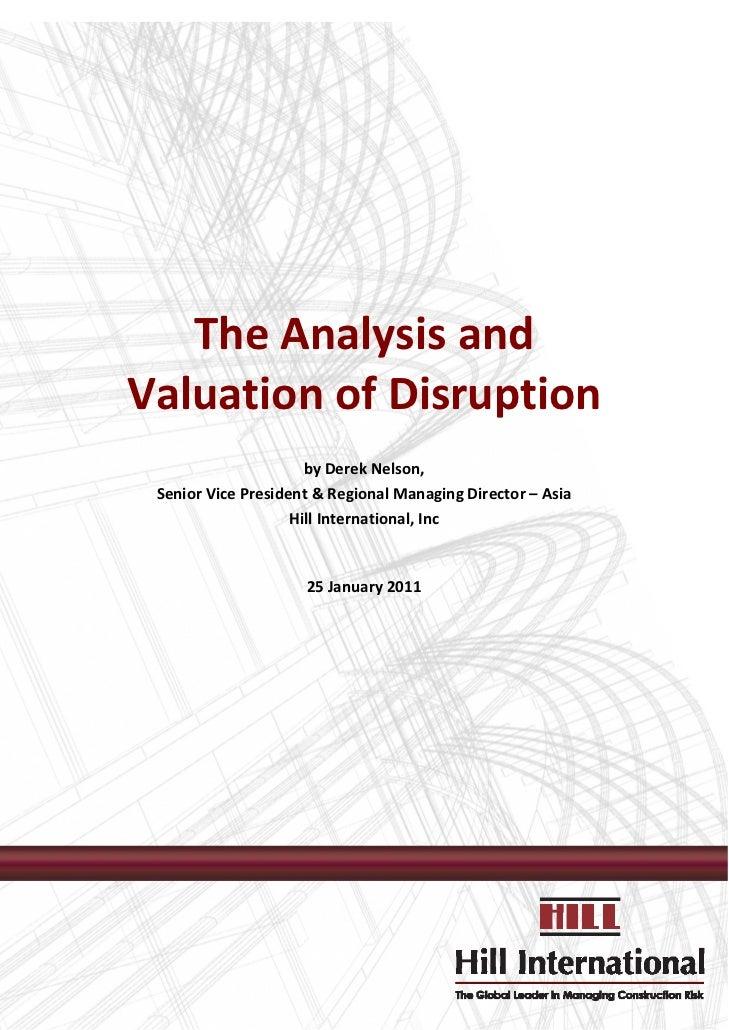 TheAnalysisand    ValuationofDisrupti...
