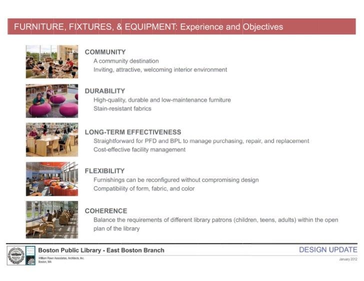 East Boston Branch Library Design Update 1/24/2012