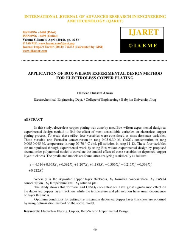 International Journal of Advanced Research in Engineering and Technology (IJARET), ISSN 0976 – 6480(Print), ISSN 0976 – 64...