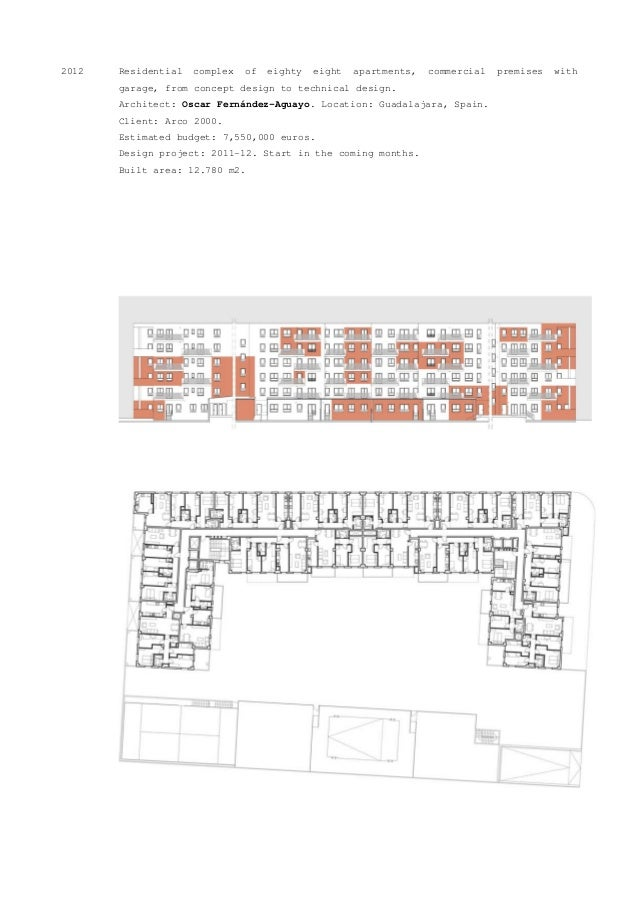 2012 Residential complex of eighty eight apartments, commercial premises with garage, from concept design to technical des...