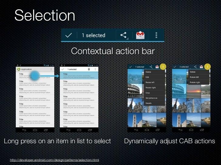 Notificationshttp://developer.android.com/design/patterns/notifications.html