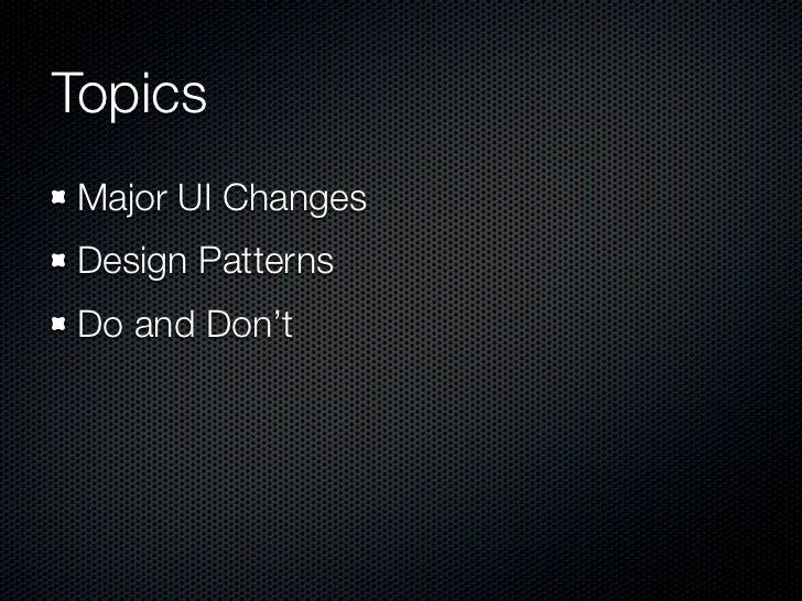 Major UI Changes