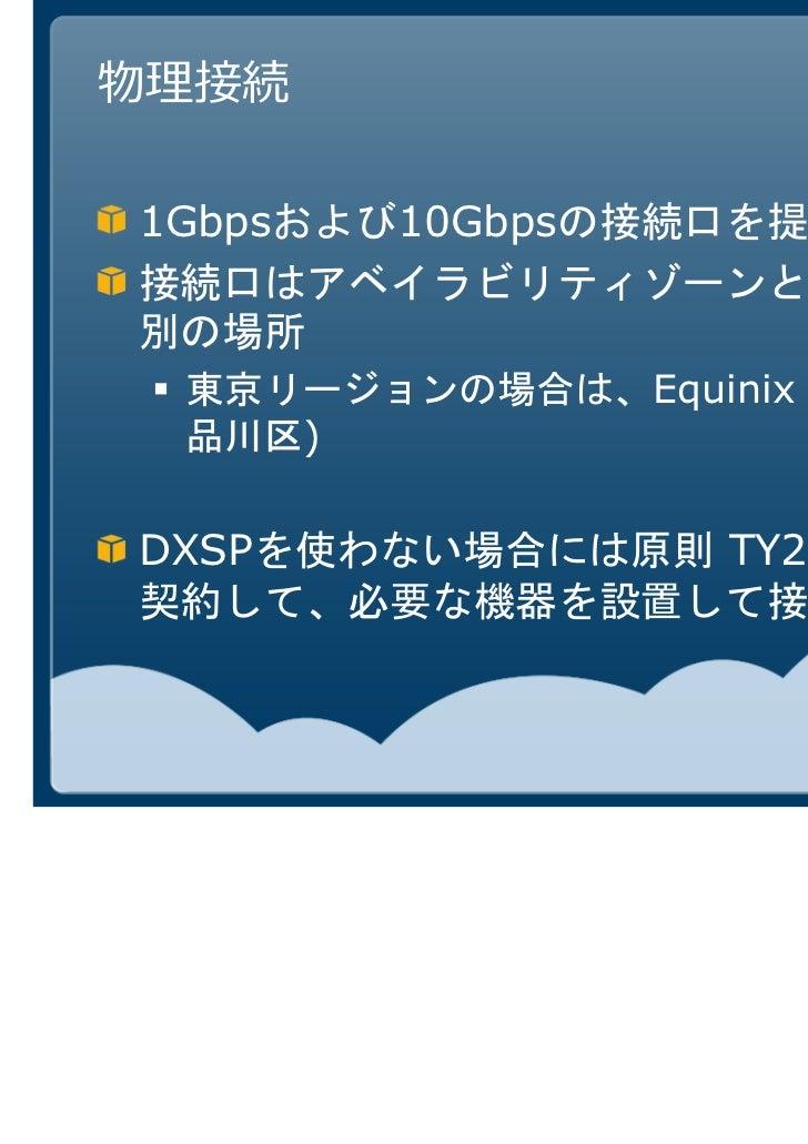 Equinixへラックを設置する方法  WAN             VLAN  TY2エンド     キャリア                                     AWS        WAN終端         装置 ...