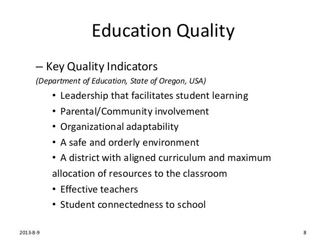 What makes a quality education?
