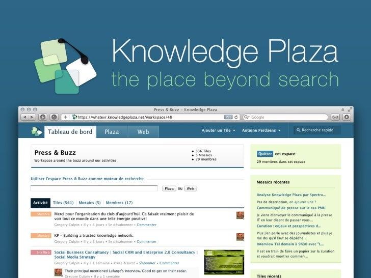 Réseaux Sociaux etKnowledge ManagementNaissance vs. Renaissance Antoine Perdaens, CEO   www.knowledgeplaza.net