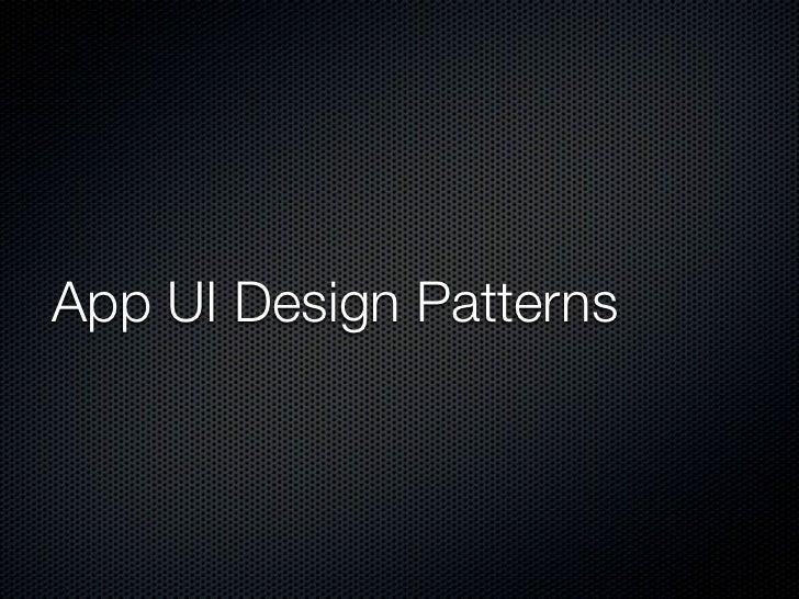 Common App UI                                                           1.Main Action Bar                                 ...