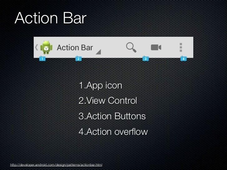 Split Action Bars                                                              1.Main action bar                          ...