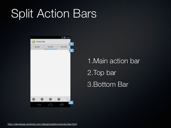 Multi-pane layouts             Smartphone                                                Tablethttp://developer.android.co...