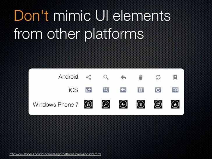 Dont use bottom tab barshttp://developer.android.com/design/patterns/pure-android.html
