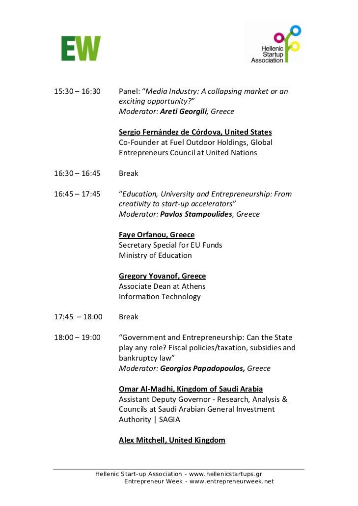 "15:30–16:30     Panel:""MediaIndustry:Acollapsingmarketoran                   excitingopportunity?""         ..."