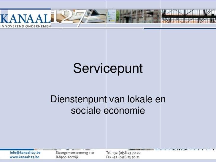 ServicepuntDienstenpunt van lokale en    sociale economie
