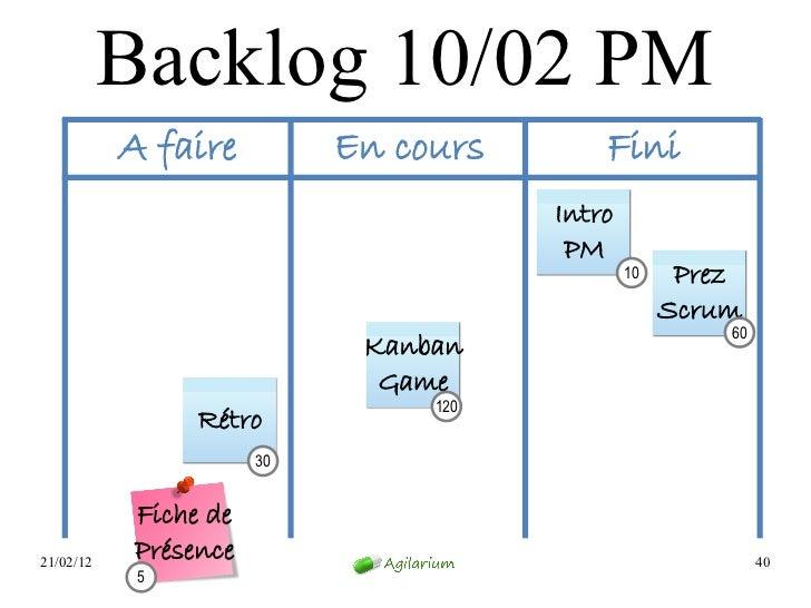 Backlog 10/02 PM           A faire         En cours       Fini                                      Intro                 ...