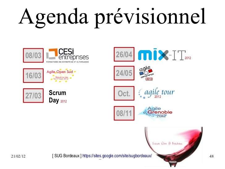 Agenda prévisionnel       08/03                                         26/04                           2012       16/03  ...