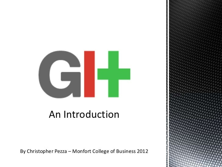 An IntroductionBy Christopher Pezza – Monfort College of Business 2012