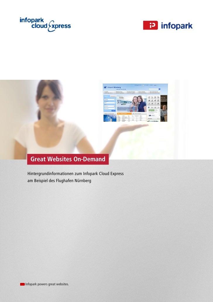 Great Websites On-Demand Hintergrundinformationen zum Infopark Cloud Express am Beispiel des Flughafen NürnbergInfopark po...
