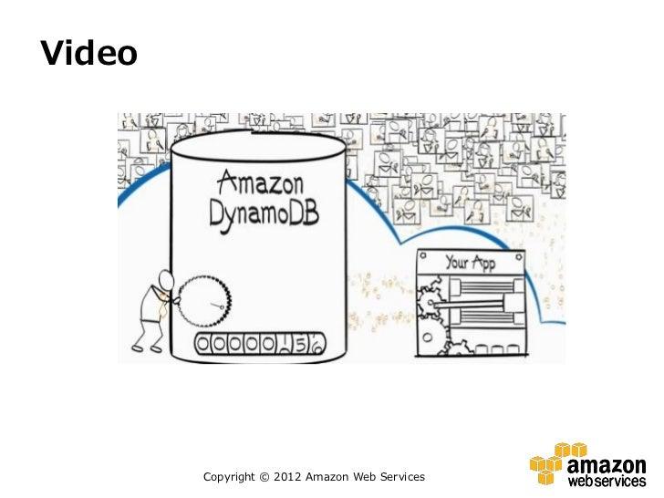 Video        Copyright © 2012 Amazon Web Services